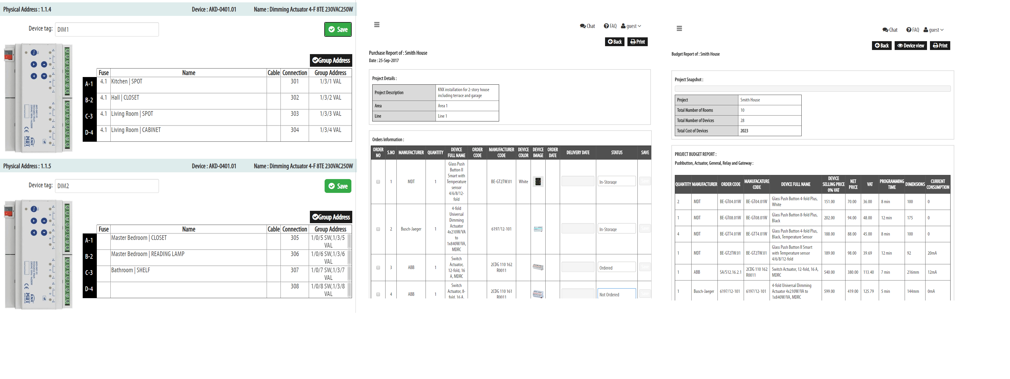 KNX documentation tool - KNX design and planning